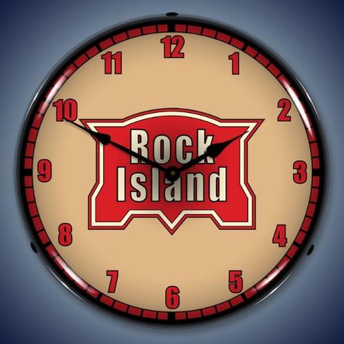 Vintage-Retro  Rock Island Railroad Lighted Wall Clock