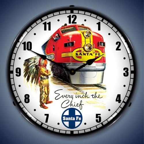 Vintage-Retro  Sante Fe Chief Lighted Wall Clock