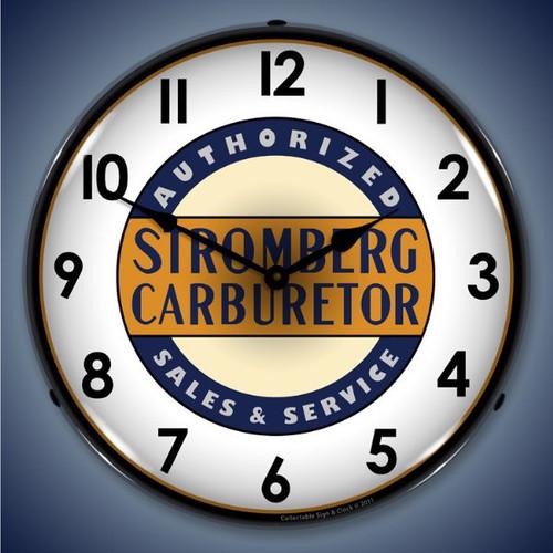 Vintage-Retro  Stromberg Service Lighted Wall Clock