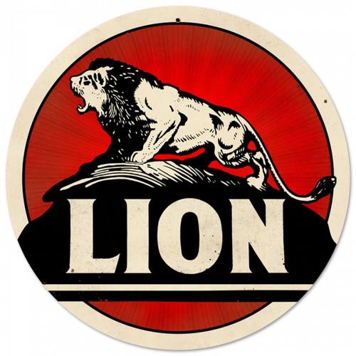 Vintage-Retro Lion Gasoline Metal-Tin Sign