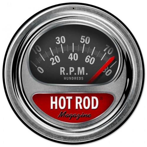 Retro Hot Rod Tach Tin Sign
