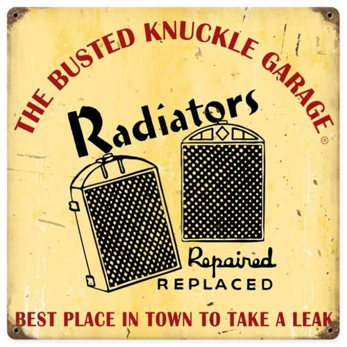 Vintage  Radiator Repair Metal Sign