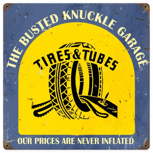 Vintage  Tire Shop Metal Sign