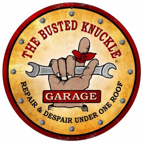 Vintage  Busted Knuckle Garage Tin Sign 7