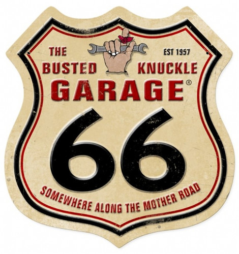 Vintage  Route 66 Metal Sign 15 x 15 Inches