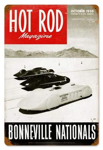 Vintage-Retro Bonneville Nationals (Oct. 1950) Metal-Tin Sign