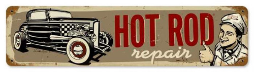 Vintage-Retro Hot Rod Repair Metal-Tin Sign