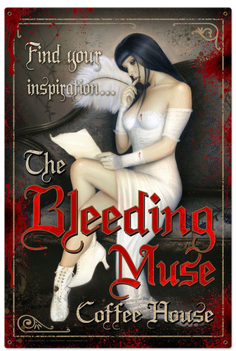 Retro Bleeding Muse Tin Sign 24 x 36 Inches