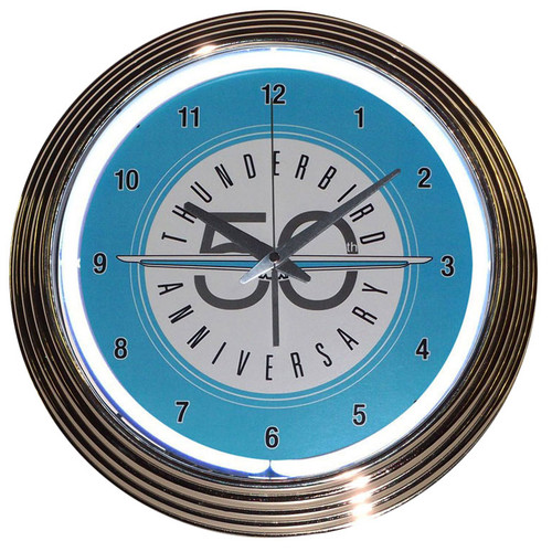 Retro Ford Thunderbird Neon Clock 15 X 15 Inches