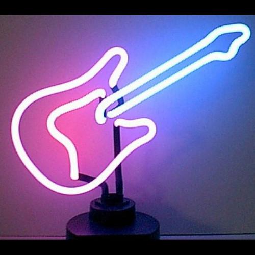 Retro Guitar Neon Sculpture  16 W  X 12 H X 6 D
