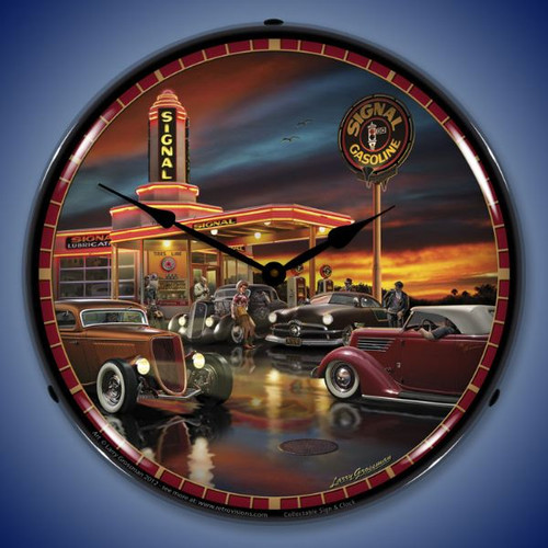 Retro Cruising the Signal Lighted Wall Clock