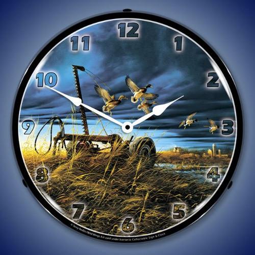 Landmark Mallards Lighted Wall Clock