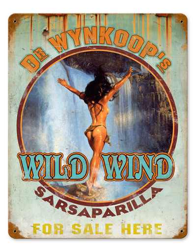 Retro Wild Sarsaparilla Vintage Metal Sign 12 x 15 Inches