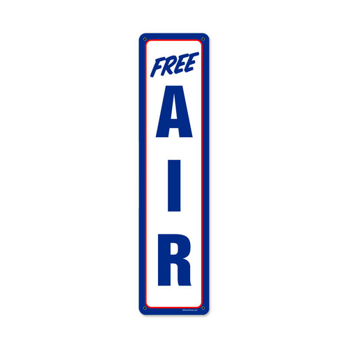 Retro Air Mobil Metal Sign 5 x 20 Inches