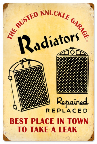 Vintage Radiator Service Metal Sign 16 x 24 Inches