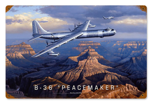 Retro B36 Peacemaker Vintage Metal Sign 12 x 18 Inches