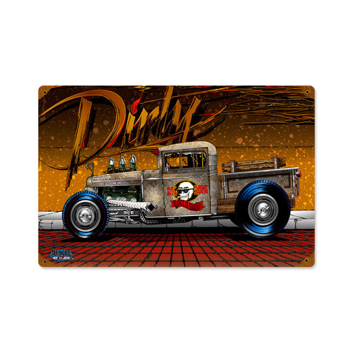 Retro Dirty Rat Rod  Metal Sign 18 x 12 Inches