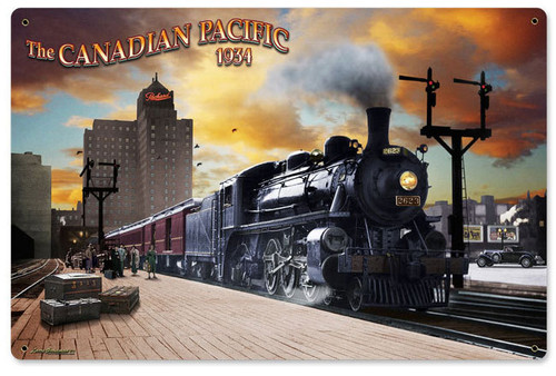 Canadian Pacific Metal Sign  18 x 12 Inches