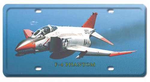 Vintage-Retro F-4 Phantom License Plate