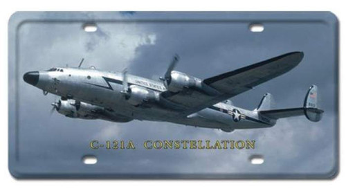 Vintage C-121A Constellation License Plate 6 x 12 Inches
