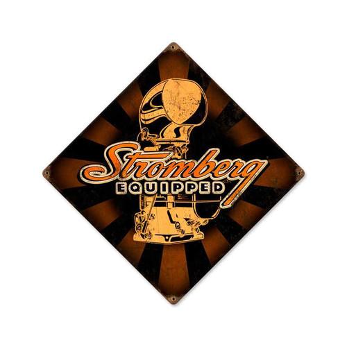 Retro Stromberg Vintage Metal Sign 12 x 12 Inches