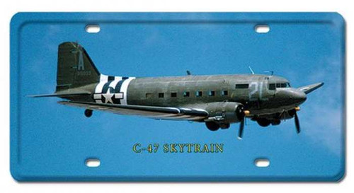 Vintage C-47 Skytrain License Plate 6 x 12 Inches