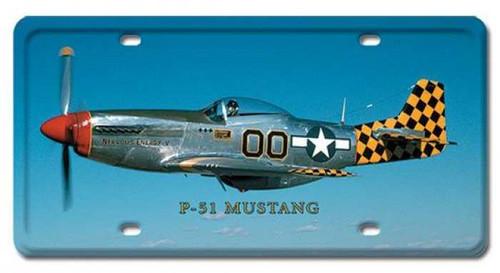 Vintage-Retro P-51 Mustang License Plate
