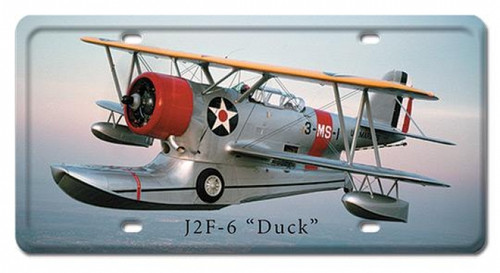 Vintage J2F-6 Duck License Plate 6 x 12 Inches