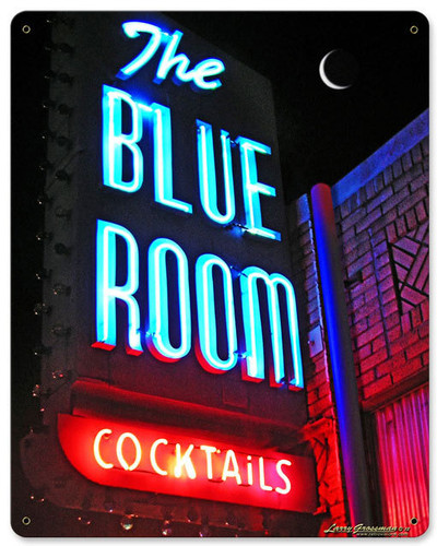 BLUE ROOM METAL SIGN 12 X 15 INCHES