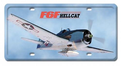 Vintage-Retro F6F HellCat License Plate