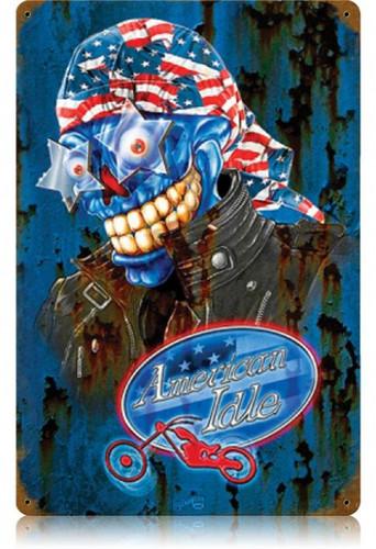 Vintage-Retro American Idle Metal-Tin Sign