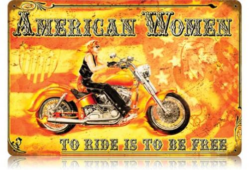 Vintage-Retro American Women Metal-Tin Sign