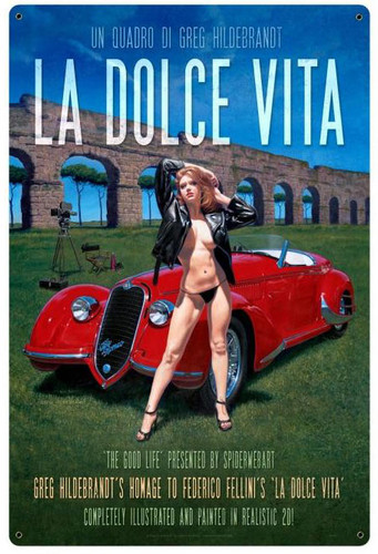 LA DOLCE VITA XL Metal Sign 24 x 36 Inches
