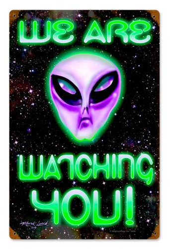 Vintage-Retro We Are Watching You Metal-Tin Sign