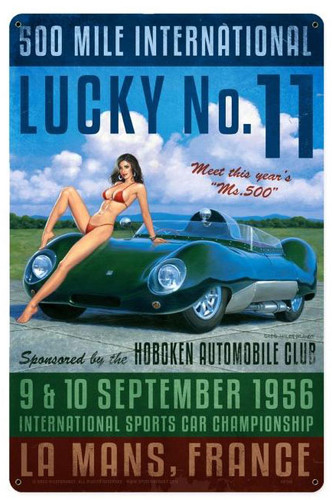 Lucky Number Eleven Metal Sign 12 x 18 Inches