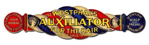 Auxiliator For The hair Vintage Metal Sign 28  x 7 Inches