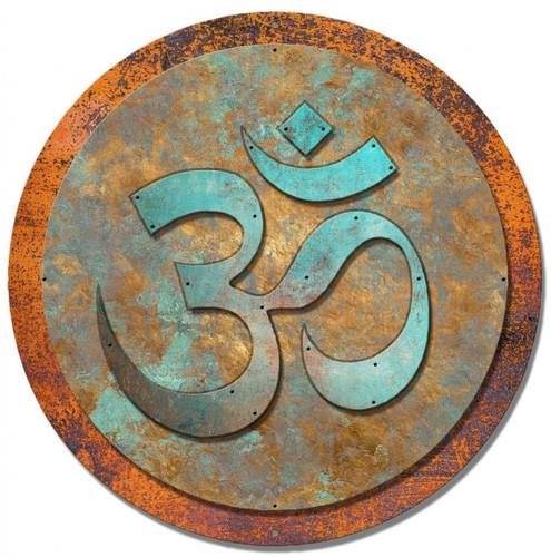 Om Symbol 3-d Metal Sign 24 x 24 Inches