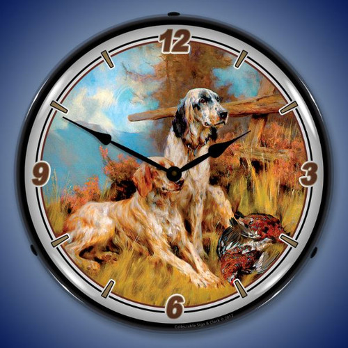 After the Hunt Lighted Wall Clock 14 x 14 Inches