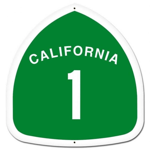 Retro California Custom Shape Metal Sign 16 x 16 Inches