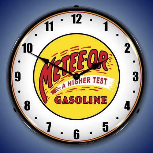 Meteeor Gasoline Lighted Wall Clock 14 x 14 Inches