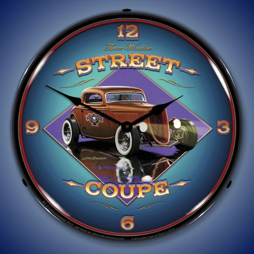 Street Coupe Lighted Wall Clock 14 x 14 Inches