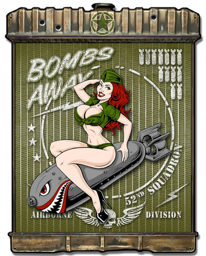 Radiator Bombs Away Metal Sign 24 x 32 Inches