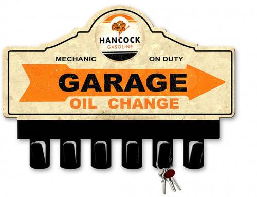 Hancock Gasoline Metal Key Hanger 14 x 10 Inches