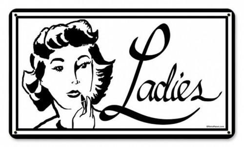 Vintage-Retro Ladies Metal-Tin Sign