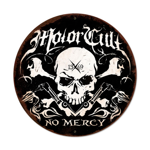 No Mercy Metal Sign 28 x 28 Inches