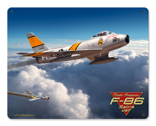 F-86 Saber Jet 15x12 Metal Sign 15 x 12 Inches