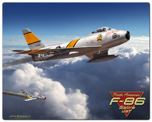 F-86 Saber Jet Metal Sign 24 x 30 Inches