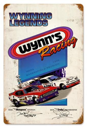 Vintage Retro Wynning Racing Tin Sign