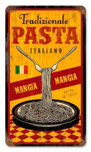 Personalized Street Signs >> Vintage Traditional Pasta Metal Sign 8 x 14 Inches
