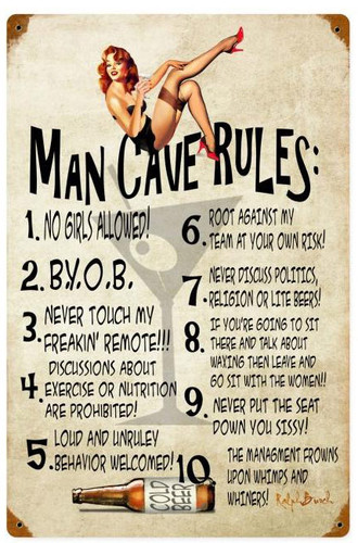 Hunting Man Cave Signs